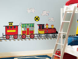 Cheerful Interior Design Ideas For Kids Room Themes Breathtaking Train Wall Sticker In Bedroom