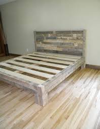Platform Bed Beds Frame Reclaimed Wood Rustic Furniture Bedroom Decor Home