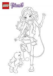 Beautiful Lego Friends Coloring Pages 94 In Print With
