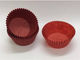 Red Baking Cups Paper Standard Size Cupcake Liners Appx 500 Pc