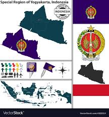 Map Of Yogyakarta Vector Image