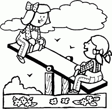 Kids Playing Coloring Pages Page