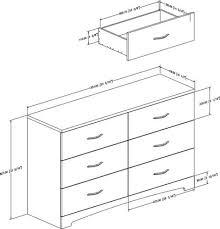south shore soho 6 drawer double dresser multiple finishes
