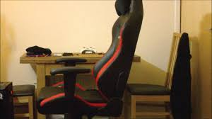 dx racer chair oh d03 nr gaming chair unboxing review youtube