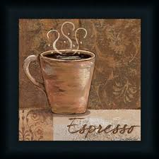 Espresso By Jo Coffee Sign Kitchen Decor Framed Art Print Wall