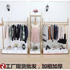 Top Iron Clothing Store Display Racks For Hanging Clothes Inside Pertaining To Remodel