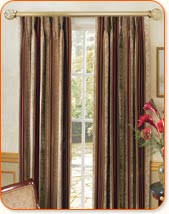 kirsch curtain rods or traverse rods are popular drapery hardware