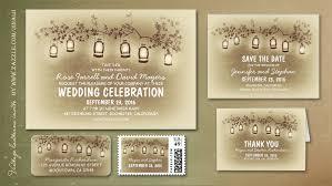 Vintage Lanterns Garden Lights Wedding Invitation