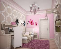 BedroomArtistic French Bedroom Decoration With Futuristic Wallpaper And Elegant Bed Idea Lovely Style