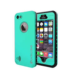PUNKcase StudStar Teal Apple iPhone 5S 5 Waterproof Case