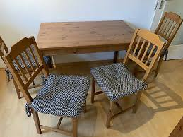 ikea esszimmer küchentisch mit 4 stühlen aus holz farbe
