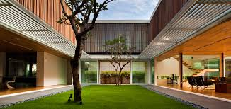 100 Modern Homes With Courtyards Spacious Contemporary House In Singapore Strikes A Balance