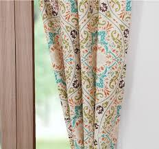 Geometric Pattern Window Curtains by Moroccan Vintage Medallion Aqua Cotton Quilt Set Luxury Linens 4