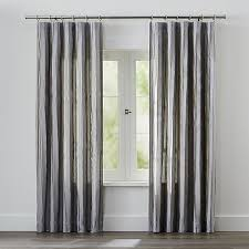 kendal grey striped curtains crate and barrel
