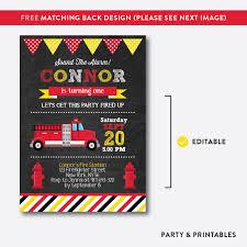 100 Truck Birthday Invitations Printable Birthday Invitations Fire Truck Download Them Or Print