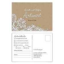 Antwortkarte Hochzeit Hochzeitskarte Antwort Postkarte Black And