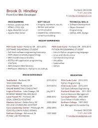web developer resume sample programming resume examples web