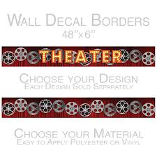 Theater Curtain Film Reels Peel And Stick Wall Border Movie Room Decor