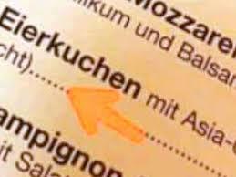 lokal warnt auf speisekarte vor eigenem essen genuss