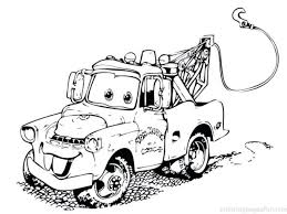 Cars Coloring Pages Full Color Free Page Printable Disney Games Colouring Online Mater