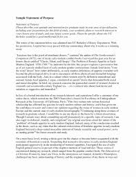 Grad School Statement Of Intent Sample