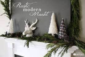 A Rustic Modern Christmas Mantel