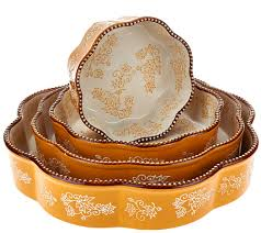 Temp Tations Floral Lace Set Of 4 Nested Cake Pans