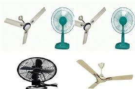 what are the difference between a ceiling fan and table fan