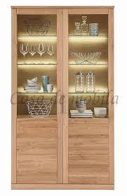 vitrine 114x204x40cm massivholz geölt casade mobila