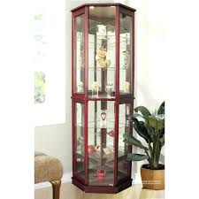 creative lighted curio cabinet stunning glass lighted curio
