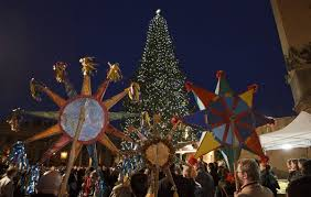 People Hold Traditional Ukrainian Decorations During The Christmas Tree Lighting Ceremony In St Peters Square