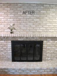 Paint Colors Living Room Red Brick Fireplace interior whitewashing brick fireplace painting red brick