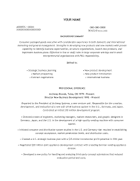 Fabulous Business Development Resume Objective Examples In Sample Objectives For Food Service