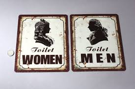 1 toiletten schild mann frau gesicht kopf toilet door sign gentlemen