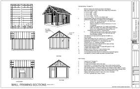 Wood Storage Sheds 10 X 20 by Shed Plan Books 10x20 Storage Shed Plans Free