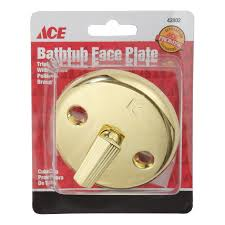 Bathtub Overflow Plate Gasket by Ace Waste And Overflow Plate With Trip Lever Bath Drains