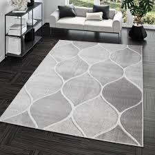 wohnzimmer teppich kurzflor teppich mit orient design einfarbig in grau größe 60x100 cm