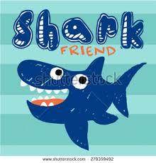 Little Shark Hand Drawn Kids Illustration For Artwork And Poster Design Vector T Shirt