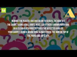 How Remove Wax From Carpet by How Do You Get Candle Wax Out Of Carpet Without An Iron Youtube