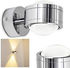 led wandle indore wandleuchte aus metall glas in chrom