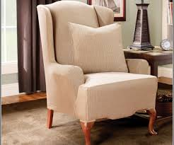 Wing Chair Slipcovers With Separate Cushion Cover Custom — NReminder ...