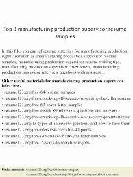 Mechanical Supervisor Resume Sample Best Of Factory Fresher For Engineer
