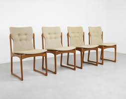 Set Of 4 Sculptural Danish Dining Chairs In Teak By Vamdrup Stolefabrik,  1960s Mid Century Danish Modern Teak Upholstered Ding Chairs Set Of 6 By Niels Otto Moller For Jl Mller 1950s How To Re Upholster The Backs Midcentury 1960s 8 Kfoed 4 Vintage Midcentury Style Curved Back Walnut Oak Style Ding Chairs 1970s 88233 Fuchsia Chair Dania Fniture Weber Black Shell Seat Details About 2 Wegner Elbow Midcent Finish Solid Wood Frme Picked Amazoncom Glj Fashion Nordic Designer G Plan Solid Teak New Upholstery Mid Century Modern K Larsen Influenced