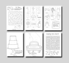 Activity Book Template By Wedding Print At Home Mint Toolz