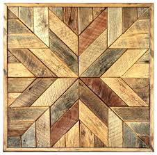Wood Star Wall Art Quilt Block Rustic Wooden Canvas