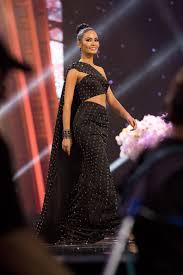 miss universe thailand 2016 evening gown pageant wear dark
