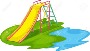 Park clipart playground slide Pencil and in color park clipart
