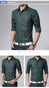 business men dress shirt solid color long sleeve classic design