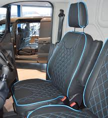 Ford Transit Custom Waterproof Tailored Seat Covers Diamond Quilting ...