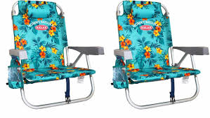 Tommy Bahama Backpack Beach Chair Dimensions by 2 Tommy Bahama Backpack Cooler Beach Chairs Green Floral New Ebay